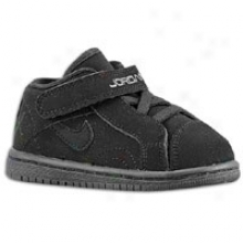Jordan Sky High Court Low - Toddlers - Black/black