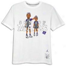 Jordan S.o.m. Death Defying Dunk T-shirt - Mens - White/varsity Red
