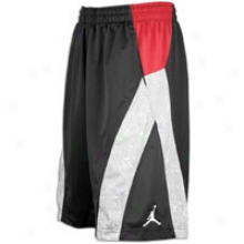 Jordan S.o.m. Speckle Prunt Short - Mens - Black/varsity Red/white