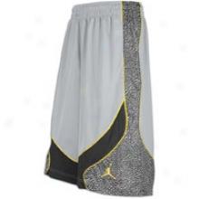 Joordan Spizike Short - Mens - Wolf Grey/dark Charcoal/varsity Maize