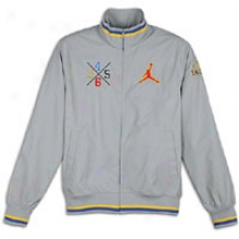 Jordan Spizike Track Jacket - Mens - Wolf Grey/varsity Maize