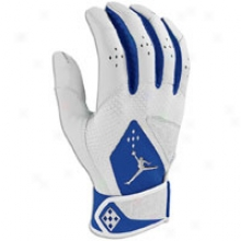 Jordan Team Batting Gloves - Mens - White/royal/chrome