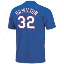 Josh Hamilton Majestic Mlb Name An dNumber T-shirt - Mens - Royal