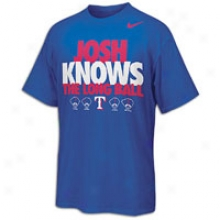 Josh Hamilton Nike Mlb Long Ball T-shirt - Mens - Royal