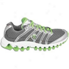 K-swiss Tubes Run 100 - Womens - Charcoal/silver/neon Lime