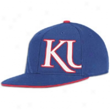 Kansas Adidas College Flat Visor Flex - Mens - Royal