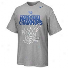 Kentucky Nike College National Champions Lr T-shirt - Mens - Grey