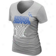 Kentucky Nike National Champions Lr T-shirt - Womens - Grey