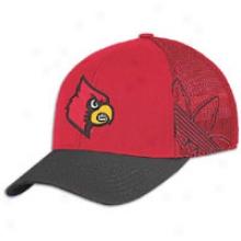 Louisville Adidas College Structured Flex - Mens - Red