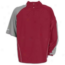 Majestic Coolbase Convertible Gamer Jacket - Mens - Cardinal/silver
