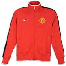 Manchester United Nike Soccer Club Authentic N98 Track Jacket - Mens - Diablo Red/black/white