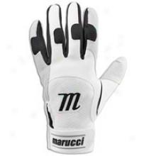 Maruccci Professional Batting Gloves - Mens - White/black