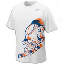 Mets Nike Mlb Cooperstown Logo T-shirt - Mens - White