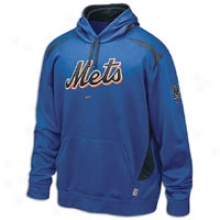 Mets Nike Performance Fleece Hoodie - Mens - Navy/orange