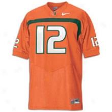 Miami (fla). Nike College Football Authentic Jersey - Mens - Orange