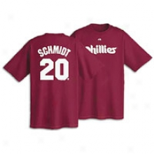 Mike Schmidt Majestic Cooperstown Player Name & # T-shirt - Mens - Maroon