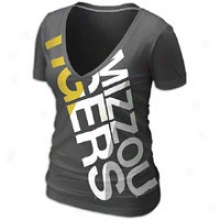 Missouri Nike College Deep V Blended T-shirt - Womens - Negro