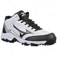 Mizuno 9-spike Blast 3 Mid - Mens - White/black
