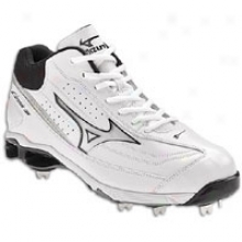 Mizuno 9-spike Classic Mid G6 Switch - Mens - White/black