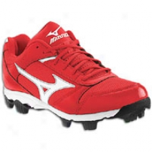 Mizuno 9-spike Immunity 6 Lw - Haughty Kids - Red/white