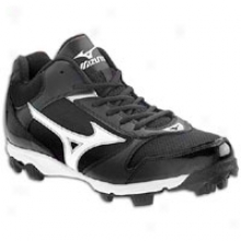 Mizuno 9-spike Franchise 6 Mid - Mens - Black/white