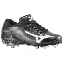 Mizuno 9-spike Global Elite - Mens - Black/white