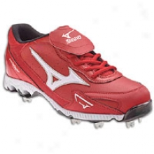 Mizuno 9-spike Vintage G6 Low - Mens - Red/white