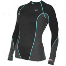 Mizuno Breath Thermo Stretch Crew - Womens - Black/ceramic