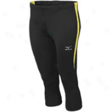 Mizuno Exodus 3/4 Tight - Womens - Black/lemon