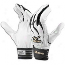 Mizuno Global Elite Batting Gloves - Mens - White/black