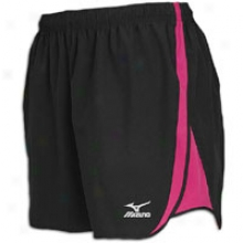 Mizuno Mustang Short - Womens - Black/fuchsia Purple