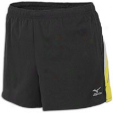 Mizuno Mustang Short - Womens - Black/lemon