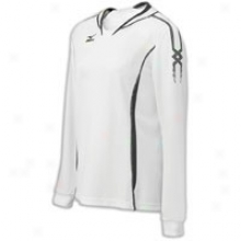 Mziuno National V Long Sleeve Jersey - Womens - White/white