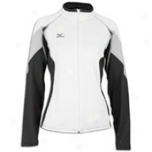 Mizuno Nine Collection Full Zip Jacket - Womens - White/grey/black