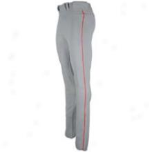 Mizuno Premier Full Length Piped Pant - Mens - Grey/red