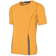 Mizuno Rider T-shirt - Mens - Sun Orange/charcoal