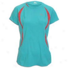 Mizuno Rider T-shirt - Womens - Ceramic/raspberry