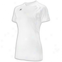 Mizuno Techno Flight of shot Iii Short Sleeve Jersey - Womens - White/white