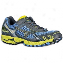 Mizuno Wave Ascend 6 - Womens - Marina/anthracite/lime Punch