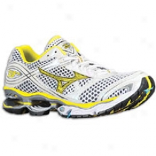 Mizuno Wave Creation 13 - Womens - White/cyber Yellow/aquarius