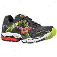 Mizuno Wave Enigma - Mens - Athracite/lime Punch/chinese Red