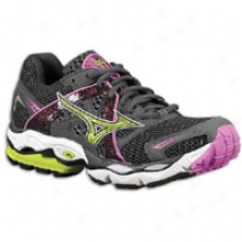 Mizuno Wave Enigma - Womens - Dark Shadow/super Pink/wild Lime