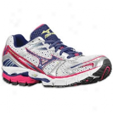 Mizuno Wave Inapite 8 - Womens - White/blue Depths/sangria