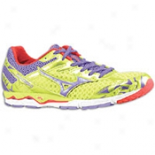 Mizuno Wave Musha 4 - Womens - Lime Punch/prism Violet/chinese Red