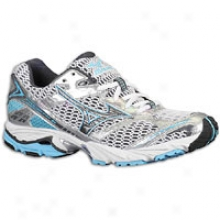 Mizuno Wave Nsxus 6 - Womens - White/anthracite/aquarius