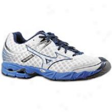 Mizuno Wave Precision 12 - Mens - White/dress Blue/silver