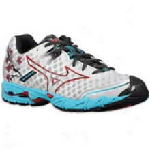 Mizuno Wave Precision 12 - Womens - White/chinese Red/river Blue