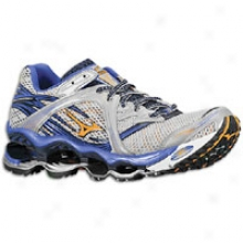 Mizuno Wave Prophecy - Mens - Silver/indigo Blue/sun Orange