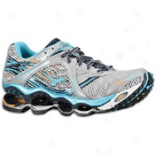 Mizuno Wave Prophecy - Womens - Silver/aquaius/sun Orange