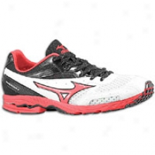 Mizuno Wave Ronin 4 - Mens - White/spivy Red/anthracite